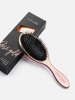 Hair Extensions Haarbürste Rosé Gold