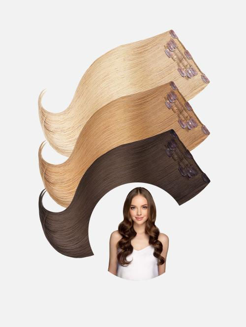 Clip-In Extensions Set NATURAL Original Seidenglatt